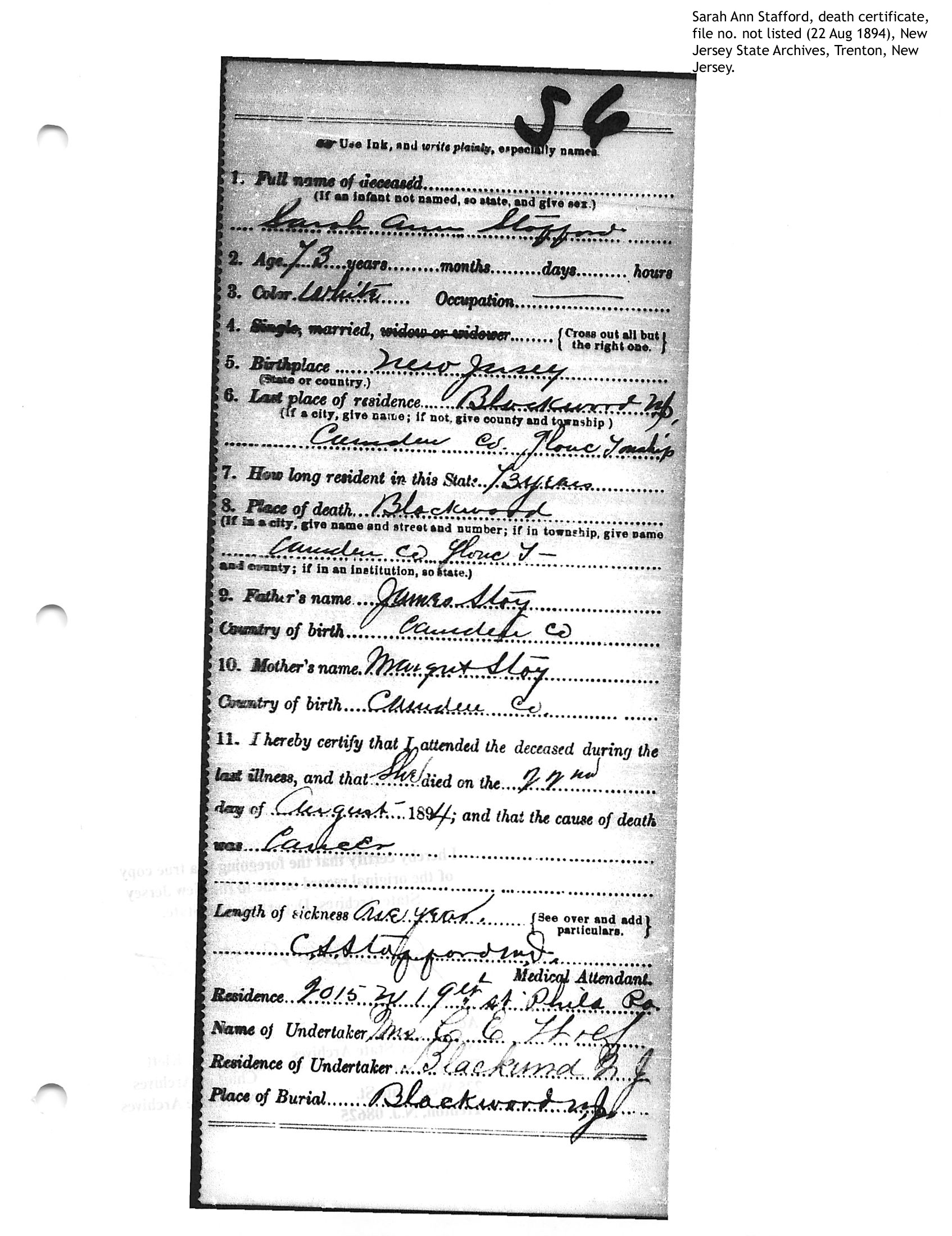 Stoy Family Genealogy Person Page