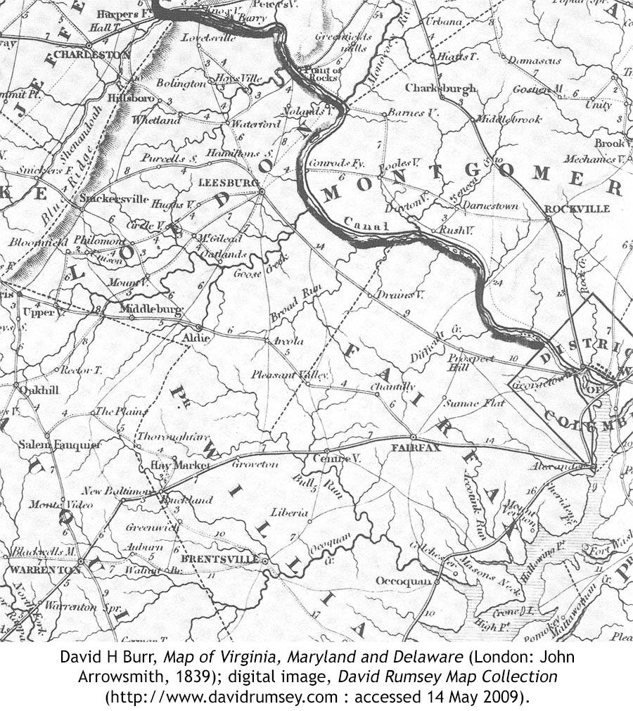 Map VA Loudoun Fairfax 1839 ... State Senator Peterson, Fairfax Chair Sharon Bulova and Fairfax County ...